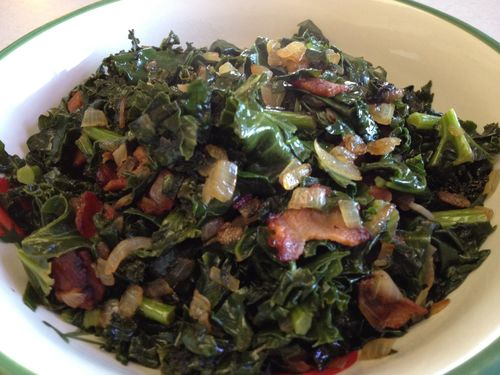 kale and bacon